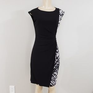 SHELBY & PALMER | Black and white dress sz small